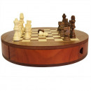 wholesale Wooden Toys: Round Wooden Set with Draws - 30cm