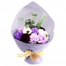 wholesale Shower & Bath: Standing Soap Flower Bouquet - Purple
