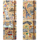 wholesale Notebooks & Tablets: 4x A5 Notebook - Lined Paper - Travel