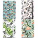 wholesale Notebooks & Tablets: 4x A5 Notebook - Lined Paper - Vintage Tropical