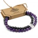 grossiste Bijoux & Montres: Bracelet de pierres précieuses magnétiques - Améth