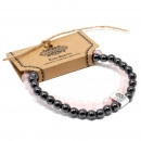 wholesale Bracelets: Magnetic Gemstone Bracelet - Rose Quartz