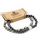 wholesale Bracelets: Magnetic Gemstone Bracelet - Dalmation Jasper