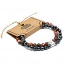 wholesale Jewelry & Watches: Magnetic Gemstone Bracelet - Leopard Skin