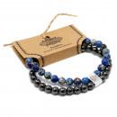 wholesale Bracelets: Magnetic Gemstone Bracelet - Sodalite