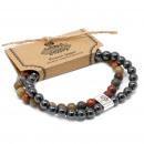 wholesale Bracelets: Magnetic Gemstone Bracelet - Picasso Jasper