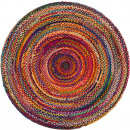 wholesale Carpets & Flooring: Round Jute and Recycled Cotton Rug - 150 cm