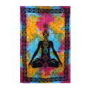 wholesale Wall Tattoos: Single Cotton Bedspread + Wall Hanging - Chakra Bu