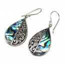 wholesale Jewelry & Watches: Shell & Silver Earrings - Flip-flops- Abalone