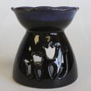 wholesale Artificial Flowers: Tulip Design Oil Burner - Black & Blue