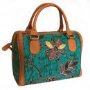 Großhandel Handtaschen: Batik & Ledertasche - Executive Bag - Teal