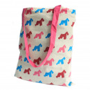 wholesale Shopping Bags: Lrg Tote Bag Reversible - Scotty - Pink