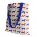wholesale Shopping Bags: Lrg Tote Bag Reversible - Fox - Blue