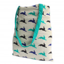 wholesale Shopping Bags: Lrg Tote Bag Reversible - Hare - Green