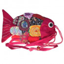 Recycled Handmade Fish Bags - Pink