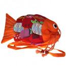 Recycelte handgemachte Fisch-Taschen - Orange