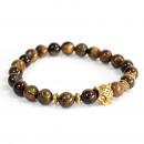 grossiste Bijoux & Montres: Tiger Gold / Tiger Eye - Bracelet en pierres préci