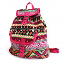 wholesale Backpacks: Jacquard Bag - Pink Backpack