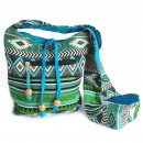 wholesale Handbags: Jacquard Bag - Teal Sling Bag