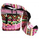 Großhandel Taschen & Reiseartikel: Jacquard Bag - Rosa Sling Bag