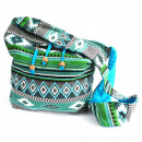 wholesale Handbags: Jacquard Bag - Teal Student Bag