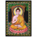 wholesale Figures & Sculptures: Indian Cotton Wall Art - Buddha