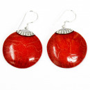 wholesale Jewelry & Watches: Coral Style 925 Silver Earrings - Classic Disc