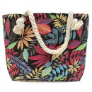 wholesale Handbags: Rope Handle Bag - Red And Blue Flowers