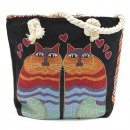 wholesale Bags & Travel accessories: Rope Handle Bag - Two Cats