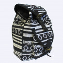 wholesale Backpacks: Small Nepali Backpack - Black & White