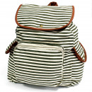 wholesale Backpacks: Traveler Backpack - 3 Pocket Olive Stripe