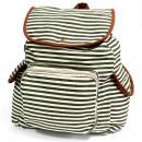 wholesale Bags & Travel accessories: Traveler Backpack - 3 Pocket Olive Stripe