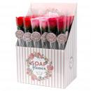 grossiste Douche et Bain: Boîte de 24 fleurs de savon - petite rose