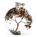 wholesale Pendant: Orgonite Power Pendant - Round Amethyst Tree