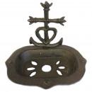 Cast Iron Soap Dish - Heart & Cross - Natural