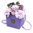 wholesale Garden Decoration & Illumination: Soap Flower Bouqet - Lavender Rose & Carnation