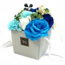 wholesale Shower & Bath: Soap Flower Bouqet - Blue Wedding