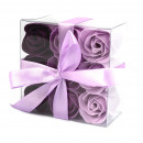 wholesale Shower & Bath: Set of 9 Soap Flower - Lavender Roses
