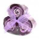 nagyker Drogéria és kozmetika: Szett 3 Szappan Virág Szívdoboz - Lavender Roses