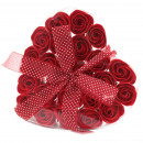wholesale Shower & Bath: Set of 24 Soap Flower Heart Box - Red Roses