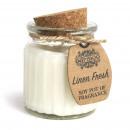 wholesale Candles & Candleholder: Linen Fresh Soy Pot of Fragrance Candles