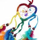 nagyker Ajándékok: Bali Dreamcatchers - Kis Szív - Rainbow