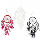 wholesale Gifts & Stationery: Bali Dreamcatchers - Large Round - Black/White/Red