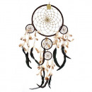 Bali Dreamcatchers - XLarge Runde - Creme / Kaffee