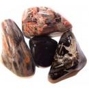 Großhandel sonstige Taschen: L Trommelsteine - Jaspis - Silberblatt