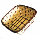 wholesale Machinery: Village Baskets - Bamboo & Awn - Square 16.5cm