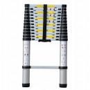 Aluminum telescopic ladder 1 x 9 / 2.6 150 kg