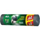 Garbage bag jan indispensable bags 60l tape 10 pcs