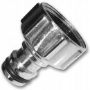 Connect the 3/4 '' chrome zinc adapter to
