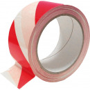 Adhesive warning tape, white and red, ta